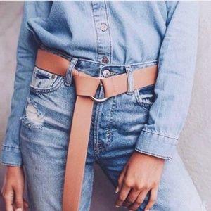 [B-Low The Belt]  Vegan Leather Belt in Tan
